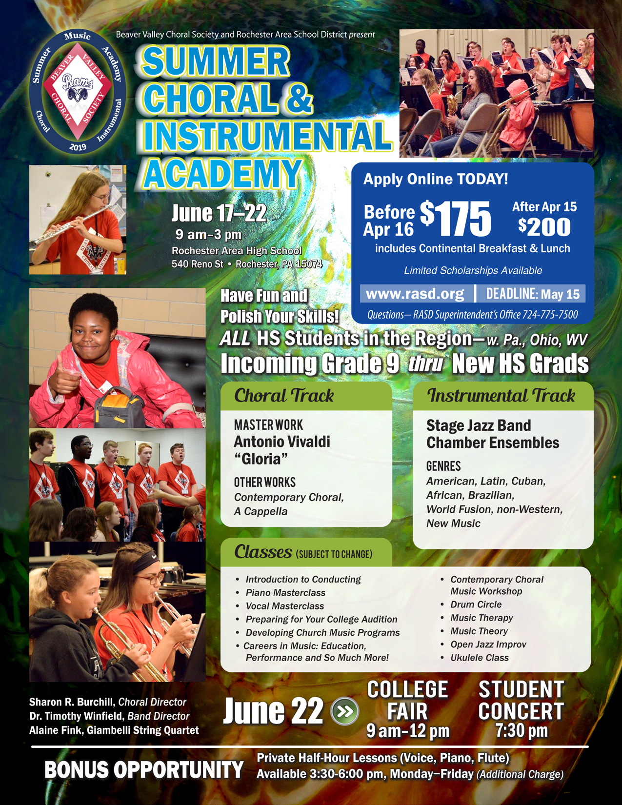2019 Summer Choral and Instrumental Academy / 2019 Summer Choral and